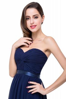 Elegantes A-Linie Chiffon Brautjungfer Kleid | Schulterfrei Brautjungfernkleider Bodenlang_9