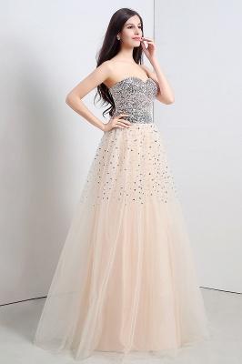 CECELIA   A-ligne bretelles robe de soirée en tulle avec paillettes_6