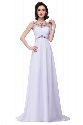 AINSLEY | A-line Sweetheart Chiffon Evening Dress With  Crystal_1
