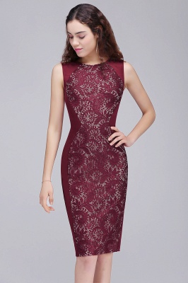 ALEENA | Mermaid Jewel Knee-Length Lace Homecoming Dresses_2