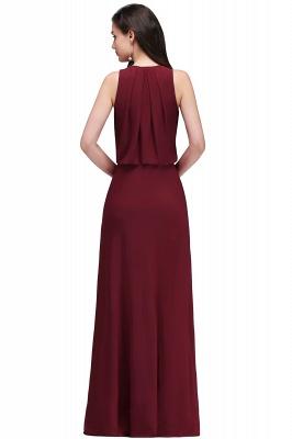 EDITH | A-line V-neck Floor-length Sleeveless Burgundy Prom Dresses with Crystal_3