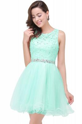 ABBY | A-ligne longueur au genou Tulle robe de bal avec Appliques & Crystal_6