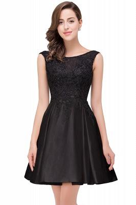 EVA | A-line Sleeveless Lace Appliques Short Prom Dresses_4