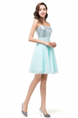 ESTELLA | A-line Sweetheart Sleeveless Chiffon Short Prom Dresses with Sequins_6