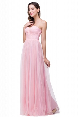 ADRIANNA | A-line Sweetheart Tulle Bridesmaid Dress with Draped_4
