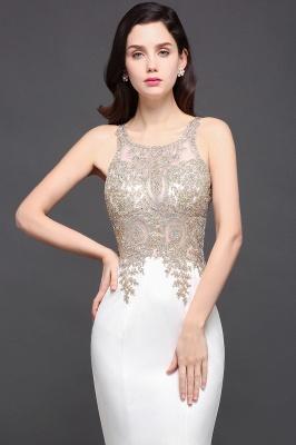 AVERIE   Mermaid Scoop en mousseline de soie élégante robe de bal avec des appliques_8