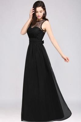 CHARLOTTE | una línea de piso de longitud gasa sexy vestido de fiesta negro_12