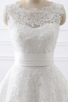 ALIYA   Sheath Scoop Lace Wedding Dresses with Detachable Skirt_5