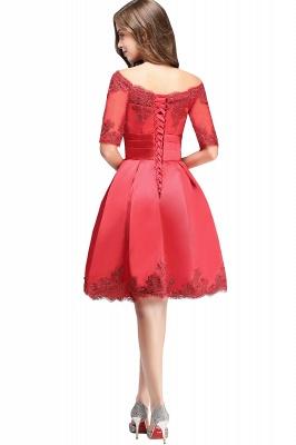 ELSIE | A-line Off-shoulder Half Sleeves Short Lace Appliques Prom Dresses_13