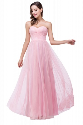ADRIANNA | A-line Sweetheart Tulle Bridesmaid Dress with Draped_5