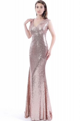 DAKOTA | Mermaid Floor Length V-Neck Long Sequins Prom Dresses_6