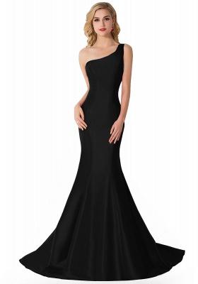 AILEEN | Mermaid One Shoulder Satin Evening Dress_3