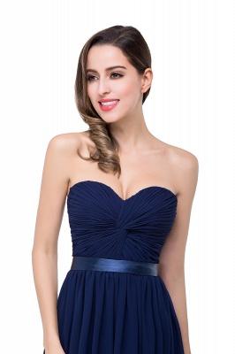 Elegantes A-Linie Chiffon Brautjungfer Kleid | Schulterfrei Brautjungfernkleider Bodenlang_10