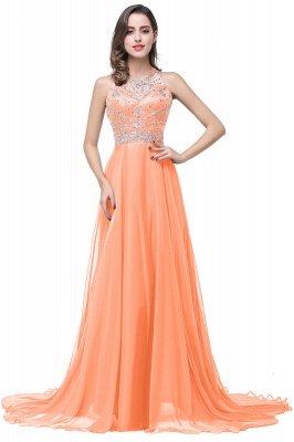 ELLA | Платья выпускного вечера Tulle длиной до пола без рукавов с бриллиантами_1