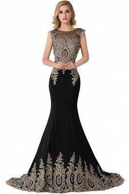 ADALINE | Mermaid Court Train Chiffon Evening Dress with Appliques_6