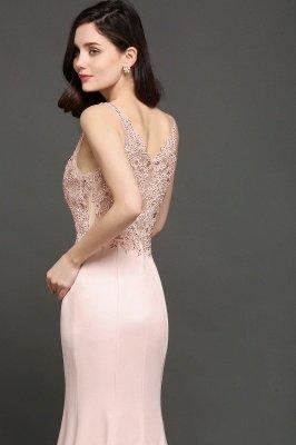 ALLYSON   Sirène v-cou perle rose robes de bal avec des perles_4
