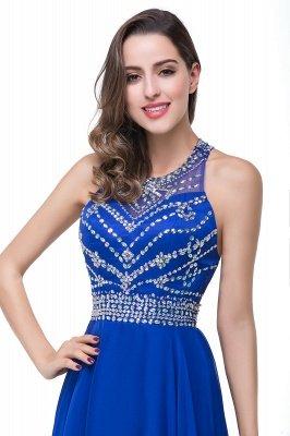 ELLA | Платья выпускного вечера Tulle длиной до пола без рукавов с бриллиантами_13
