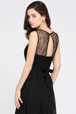 Jewel Lace Keyhole Mantel bodenlangen schwarzen Chiffon Sexy Abendkleid_13