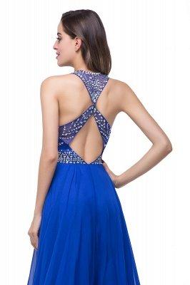 ELLA | Платья выпускного вечера Tulle длиной до пола без рукавов с бриллиантами_9