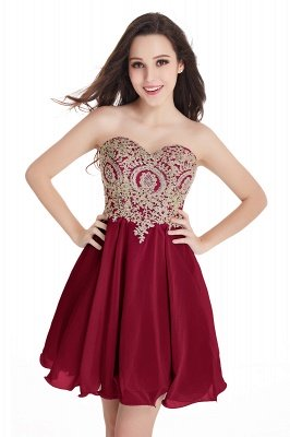 CYNTHIA | A-Line Strapless Short Chiffon Prom Dresses with Beadings_3