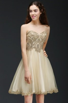 ANIYA | A-line Short Cute Homecoming Dress With Applliques_4