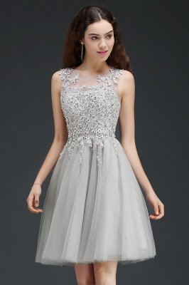 ANNA | A-line Short Modern Homecoming Dress With Lace Appliques_4