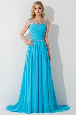 AIMEE | A-Linie Gericht Zug Chiffon Party Kleid mit Perlenstickerei_3