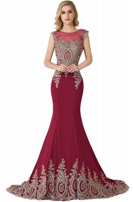 ADALINE | Mermaid Court Train Chiffon Evening Dress with Appliques_3