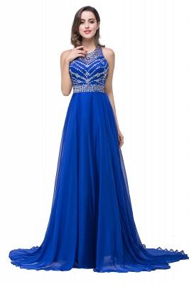 ELLA | Платья выпускного вечера Tulle длиной до пола без рукавов с бриллиантами_6