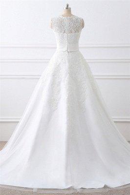 ALIYA | Vestidos de novia de encaje con lazo y falda desmontable_3