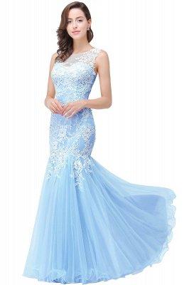 Longue robe de bal maxi dentelle sirène sans manches_4