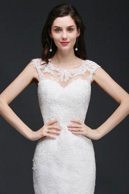 ANNALEE Mermaid Sweep Zug Elegantes Hochzeitskleid mit Spitze_6