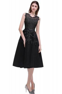 ЭМИРА | A-Line Crew Tea Length Кружева Appliques Короткие платья выпускного вечера_9