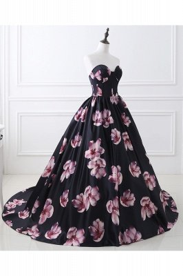 ALESSANDRA   A Line Sweetheart Long Evening Dresses With Print_3