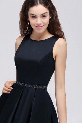 BRIANNA | A-Line cuello redondo corto Dark Navy vestidos de fiesta con cristal_6