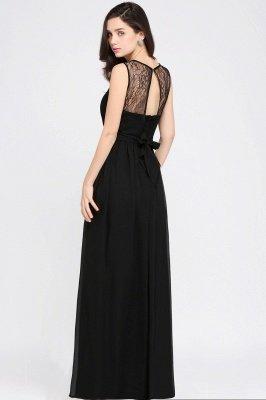 Jewel Lace Keyhole Gaine-parole longueur noire en mousseline de soie Sexy robe de soirée_11