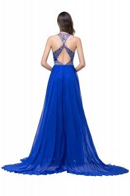 ELLA | Платья выпускного вечера Tulle длиной до пола без рукавов с бриллиантами_5