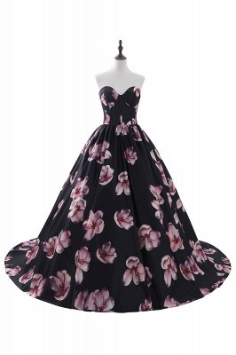 ALESSANDRA   A Line Sweetheart Long Evening Dresses With Print_1