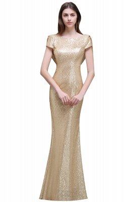 Frauen Sparkly Rose Gold Lange Pailletten Brautjungfer Kleider Prom / Abendkleider_2