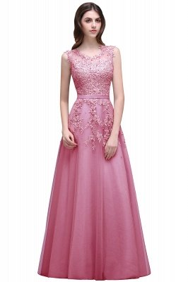 ADDILYN | A-line Floor-length Tulle Prom Dress with Appliques_1