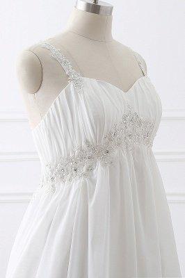 ALIVIA | Elegante A-Linie Chiffon Brautkleider Tr?ger Applikationen Lace-Up Brautkleider_6