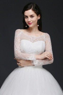 AZARIA | فستان زفاف الأميرة سكوب تول الأبيض مع الدانتيل_6