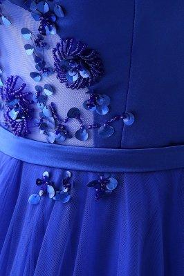 Потрясающие с плеча синие платья тюль-бейс платья Тюль_10