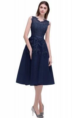 ЭМИРА | A-Line Crew Tea Length Кружева Appliques Короткие платья выпускного вечера_8