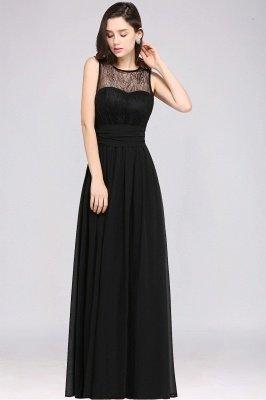 CHARLOTTE | una línea de piso de longitud gasa sexy vestido de fiesta negro_14