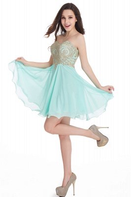CYNTHIA | A-Line Strapless Short Chiffon Prom Dresses with Beadings_15