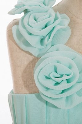 Einfache A-Linie Chiffon Brautjungfernkleider Lang | Brautjungfer Kleid Eine Schulter_8