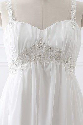 ALIVIA | Elegante A-Linie Chiffon Brautkleider Tr?ger Applikationen Lace-Up Brautkleider_4