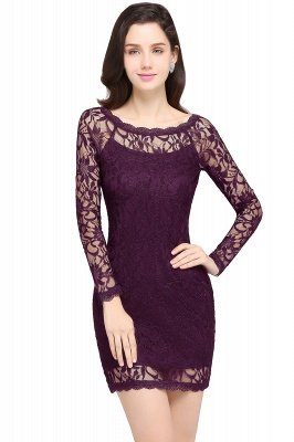 Sexy Black Lace Long Sleeves Mermaid Prom Dresses_3