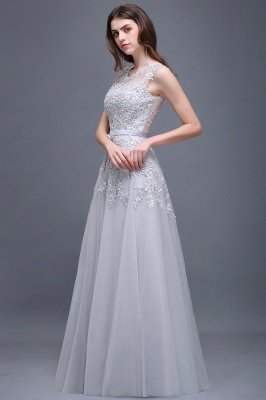 ADDILYN | A-line Floor-length Tulle Prom Dress with Appliques_13